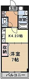 エンゼルプラザeast2[408号室号室]の間取り