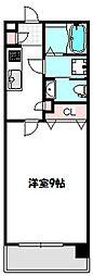 リッツスクエア グランキューブ[9階]の間取り