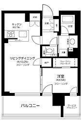 シティタワーズ東京ベイ CENTRAL TOWER 9階1LDKの間取り