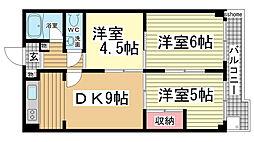 シャトー・ドー・篠原[102号室]の間取り