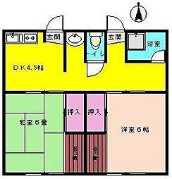 南荘 2号棟[2-5号室]の間取り