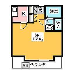 カレント中田[4階]の間取り