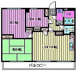 マルジューマンション[8階]の間取り