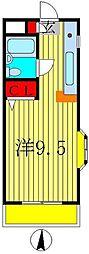 ハイツ松戸II[105号室]の間取り