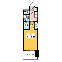 パルティール名駅北[3階]の間取り