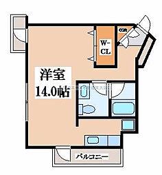 アルテハイム東大阪[6階]の間取り