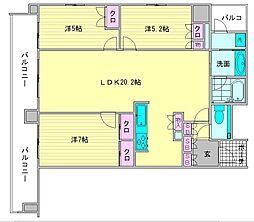 グランドメゾン浄水ガーデンシティフォレストゲートII[4階]の間取り