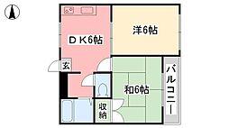 愛媛県松山市竹原2丁目の賃貸マンションの間取り