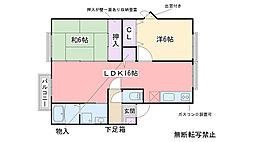 プレミール飯倉B棟[2205号室]の間取り
