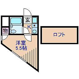 ハウスセンチュリー[2階]の間取り