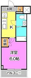 プラウドフラット富士見台[4階]の間取り