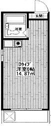 東京都中野区上高田5丁目の賃貸マンションの間取り