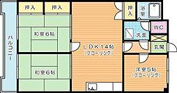 第10岡部ビル[903号室]の間取り