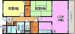 コンフォート西神戸[2階]の間取り