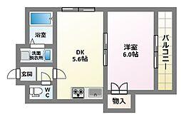 ファイブコート駒川[3階]の間取り