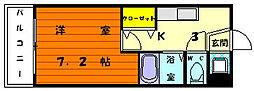 福岡県福岡市東区唐原1丁目の賃貸マンションの間取り