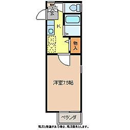 レジデンスA[1階]の間取り