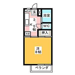 サーティーンガーデンA[1階]の間取り