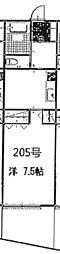 サニーコートヤサカ[206号室]の間取り