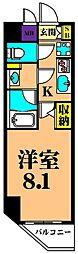 JR京浜東北・根岸線 大井町駅 徒歩10分の賃貸マンション 5階1Kの間取り