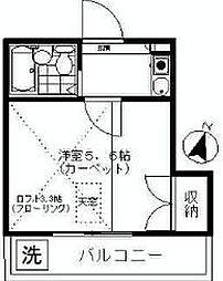 神奈川県横浜市瀬谷区相沢1丁目の賃貸アパートの間取り