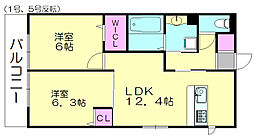 D-room原町[1階]の間取り