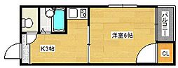 サンプラザ岸里[2階]の間取り