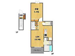 昆陽3丁目アパート[203号室]の間取り