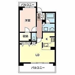 大阪府堺市堺区緑ヶ丘北町3丁の賃貸マンションの間取り