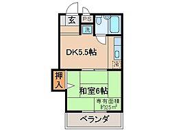 京都府京都市伏見区肥後町の賃貸マンションの間取り