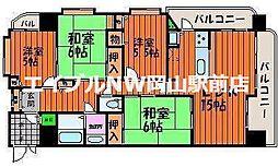 ふぁみーゆ中島田[6階]の間取り