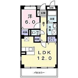 南海高野線 萩原天神駅 徒歩10分の賃貸マンション 3階1LDKの間取り