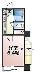 YKハイツ桜町[6階]の間取り
