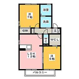 ローズコート和田[2階]の間取り