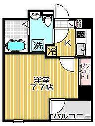 ラフィネ中延[4階]の間取り