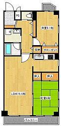 クレール南葛西[3階]の間取り