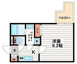 プライムアーバン御堂筋本町[5階]の間取り