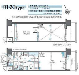 JR山手線 田町駅 徒歩11分の賃貸マンション 7階1Kの間取り