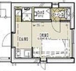 ラウム神楽坂 3階ワンルームの間取り