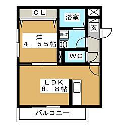 Lumie're平岸[2階]の間取り