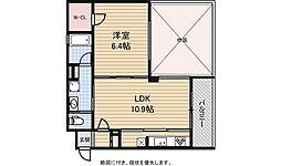 リーガル京都二条城東[904号室号室]の間取り