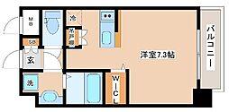 JR山陽本線 新長田駅 徒歩2分の賃貸マンション 9階ワンルームの間取り