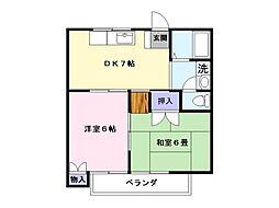 コーポミキ[203号室]の間取り