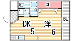 マンションヨコタ2号館[421号室]の間取り