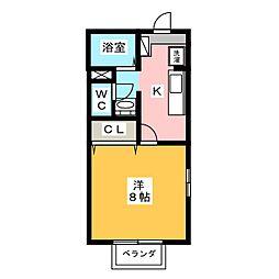 メゾン・マキノ[1階]の間取り