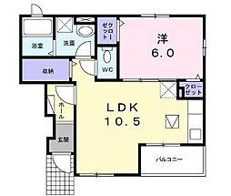ララ・キャマクタ 1階1LDKの間取り