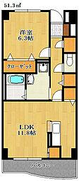 千葉県船橋市芝山3丁目の賃貸アパートの間取り