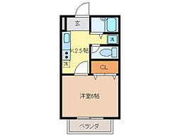 第3亀山プラザアパート[1階]の間取り