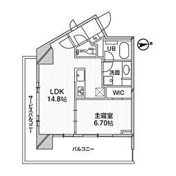 M白金台 8階1LDKの間取り