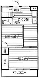 東海マンション[206号室]の間取り